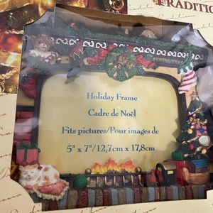 NEW Traditions Holiday frame fireplace Christmas